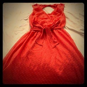 high-low dress open back tie waist